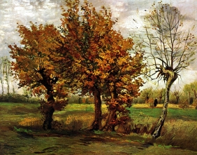 Stampe famose Vincent Van Gogh PAESAGGIO AUTUNNALE