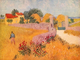 Stampe famose Vincent Van Gogh CASCINALE IN PROVENZA