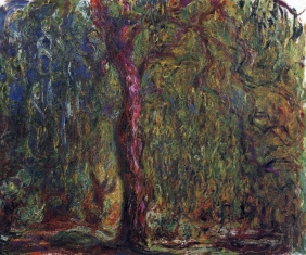 Stampe famose Monet SALICE PIANGENTE