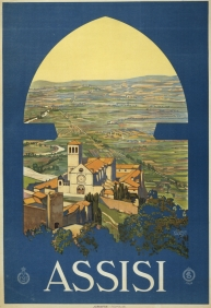 Stampe famose Poster Vintage ASSISI