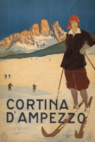 Stampe famose Poster Vintage CORTINA D' AMPEZZO