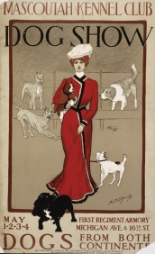 Stampe famose Poster Vintage MASCOUTAH DOG SHOW