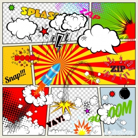 Stampa Pop Art Various Artists SPEECH AND THOUGHT BUBBLES