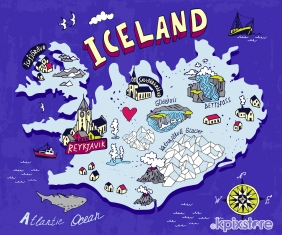 Stampa Illustrazioni Various Artists ICELAND