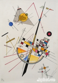 Stampe famose Kandinsky DELICATE TENSIONI