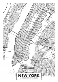 Stampa Illustrazioni Various Artists NEW YORK MAP