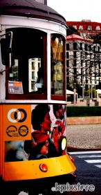 Stampa Pop Art On the road TRAM PORTOGHESE